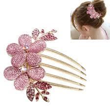 barrette hair charm girl flower pattern alloy rhinestone barrette hair clip