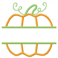 thanksgiving pumpkin applique
