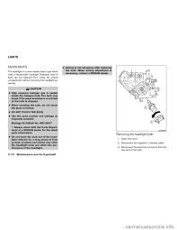 nissan frontier gas type bulb nissan frontier 2007 d22 1 g owners manual