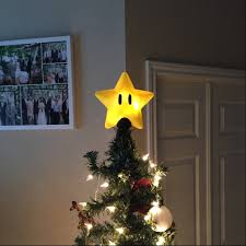 Super Mario Home Decor Super Mario Bros Power Star Christmas Tree Topper