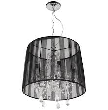 Black Ceiling Light Shade Drop Chandelier Pendant L Shade Black Mira Design