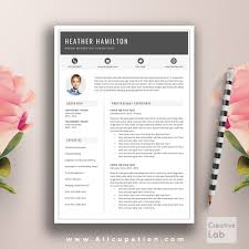 1 page resume template creative resume template modern cv word cover letter templates