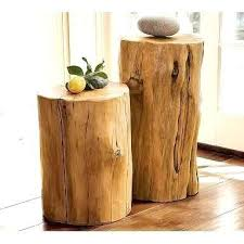 tree trunk bedside table log side tables stump coffee table log bedside table large size of