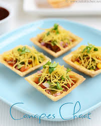canapes recipes canapes chaat canape chaat recipe raks kitchen