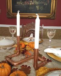 Wedding Candle Holders Centerpieces by Copper Centerpiece Industrial Candle Holder Copper Pipe Candle