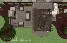 outdoor living floor plans large outdoor living design with pergola and fireplace 635 sq