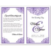 purple wedding programs wedding program templates do it yourself and template