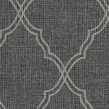 romance wallpaper in silver and black design by candice olson for