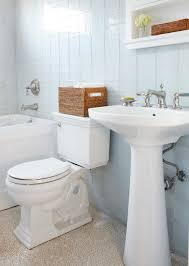 bathroom laminate flooring with wooden ceiling planks and