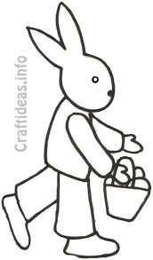 free spring coloring page for kids easter bunny
