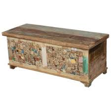 Coffee Table Chest New Delhi Elephant Hand Carved Oak Chest Coffee Table
