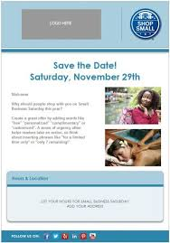 save the date emails email template small business saturday 419x600 jpg