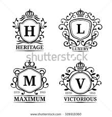 monogramed letters monogram letters stock images royalty free images vectors