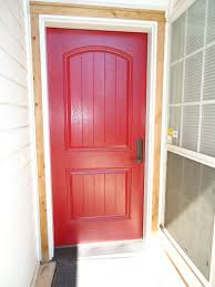 furniture charming door design in hall way areas with red wood