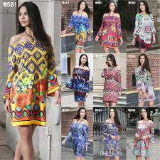 summer dress womens 3 4 sleeve multicolor floral print off the