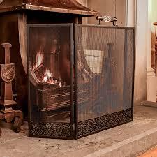 glass handled black mesh fire screen by dibor notonthehighstreet com