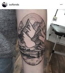 the 25 best landscape tattoo ideas on pinterest mountain