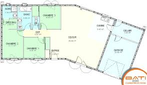 plan villa plain pied 4 chambres plan maison plain pied 4 chambres garage plan de