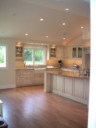 recessed lighting vaulted ceiling picture kitchen u0026 dining room