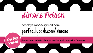 Bp Business Card Posh By Simone Making My Own Business Tools