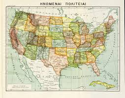 A Map Of The Usa by Greek Map Of The Usa 1927 5467 X 4281 Mapporn