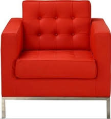 Florence Knoll Sofa Replica by Replica Florence Knoll Sofa 1 Seater U2013 Red Italian Leather Rrp