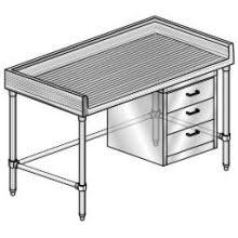 stainless steel work table stainless steel backsplash maple top work table with three tier