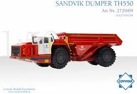 sandvik th550 underground mining dump truck soletanche dhs