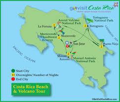 san jose costa rica on map costa rica volcano tour map costa rica go visit costa rica