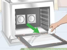 clean oven glass door how to clean the insides of a double pane window in your oven door
