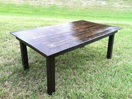 handmade reclaimed wood dining table