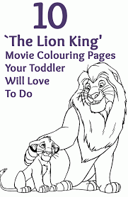 lion king holding up simba coloring page coloring home