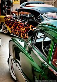 sick wet paint jobs on classic cars love the lime green this is