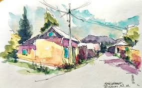 Adobe Homes by Sketching The Spanish History Of Northern New Mexico Urban Sketchers