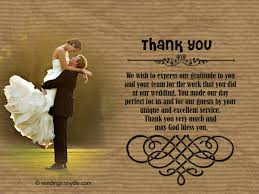 wedding wishes not attending wedding thank you notes wordings and messages