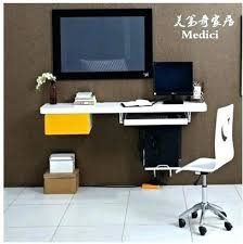 wall mount laptop desk wall desk brackets wall mounted floating computer desk and hutch