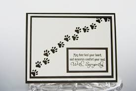sympathy cards for pets pet sympathy card pawprints loss of pet card dog sympathy