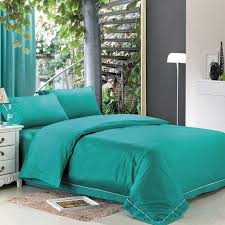 Girls Queen Size Bedding Sets by Western Turquoise Green Solid Pure Color Teen Girls Simply Shabby