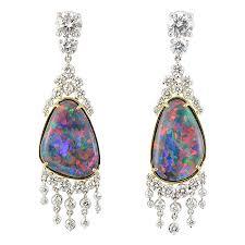 gaudy earrings wixon jewelers black opal and diamond earrings gaudy pearls