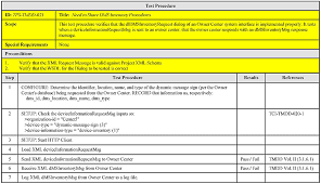 test procedure specification template free resume