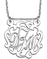 3 initial monogram necklace sterling silver deal on elizabeth edmonds sterling silver 3 initial