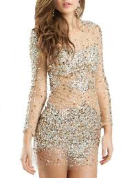 long sleeves short cocktail dress crystal beaded prom party gowns
