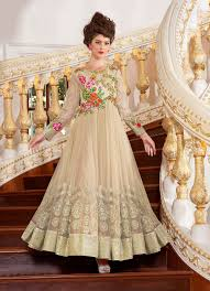 anarkali wedding dress anarkali islamic suits shopping germany beige