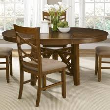 Casual Dining Room Tables by Applewood Round To Oval Single Pedestal Dining Table With 18 Inch