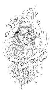 wizard tattoo design tattoo com wizard dragon tattoo drawings