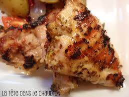 cuisiner haut de cuisse de poulet la tête dans le chaudron hauts de cuisse de poulet grillés au