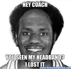 Lebron Headband Meme - king james goes bald lebron james hairline blog