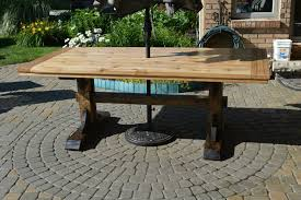 Cedar Patio Table Farmhouse Patio Table Album On Imgur