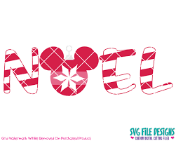 mickey mouse noel ornament svg cut file set for disney shirts
