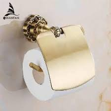 new bathroom toilet paper holder with cover antique brass roll